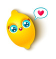 cute lemon and heart vector image