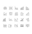 data analytics line icons signs set vector image vector image