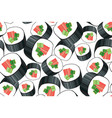 decorative sushi roll seamless pattern vector image
