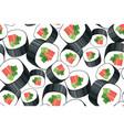 Decorative sushi roll seamless pattern