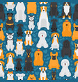 dogs in seamless pattern isolated animals cartoon vector image vector image