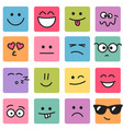 emotional square colorful faces vector image vector image