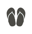 flip flop icon beach flops symbol isolated vector image vector image