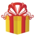 Gift box square vector image vector image