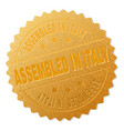 golden assembled in italy award stamp vector image vector image