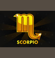 golden astrology signs on black background zodiac vector image