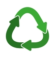 green united recycling symbol shape with arrows vector image vector image