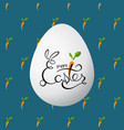 greeting card for easter patterns vector image vector image