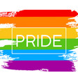 hand draw lgbt pride flag in format vector image vector image