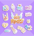 hell princess sticker collection set vector image vector image