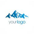 ice mountain logo vector image