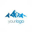 ice moutain logo vector image vector image