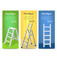ladders realistic banners set vector image