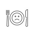 loss appetite related thin line icon