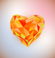 Low poly heart isolated on white background vector image vector image