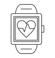 man smartwatch icon outline style vector image vector image