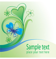 Nature background with butterfly vector image