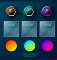 option circles pictogram background vector image vector image