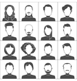 People icons Set of stylish people icons in black vector image