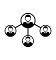 people network social connection icon male group vector image
