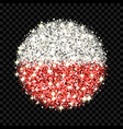 poland flag sparkling badge vector image vector image