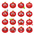pomegranate emoji emoticon expression vector image