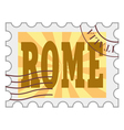 post stamp of Rome vector image