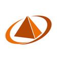 pyramid service vector image vector image