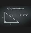 pythagoras theorem on chalkboard template for vector image
