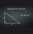 Pythagoras theorem on chalkboard template