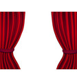 realistic 3d detailed red curtain opened view vector image vector image