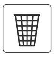 Recycle icon Trash bin sign vector image