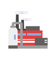 refinery plant power or chemical plant factory vector image