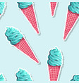 seamless pattern with ice cream and ice pop vector image