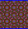 seamless repeating pattern of colored mandalas vector image