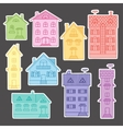 Set colorful houses vector image vector image