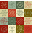 set of hand-drawn snowflakes for design greeting vector image