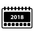 Simple 2018 Calendar icon vector image