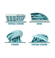 Soccer field or football stadium architecture vector image