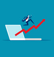 stock market index up business growth vector image