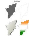 tamil nadu blank outline map set vector image vector image