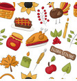 thanksgiving seamless pattern background vector image vector image