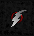 thunder bolt lightning sign symbol vector image vector image