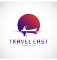 Travel East Concept Symbol Icon or Logo Template vector image vector image