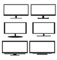 Tv sets silhouette for your design vector image vector image
