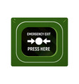 unit emergency exit vector image vector image