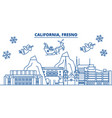 usa arizona fresno winter city skyline merry vector image vector image