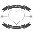 Valentine card or badge Valentines Day vector image