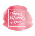 watercolor valentine card vector image