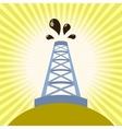 Oil derrick banner vector image